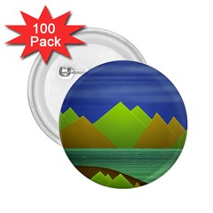 Landscape  Illustration 2 25  Button (100 Pack)
