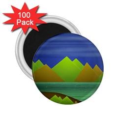 Landscape  Illustration 2 25  Button Magnet (100 Pack)
