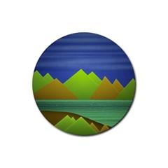 Landscape  Illustration Drink Coasters 4 Pack (round)
