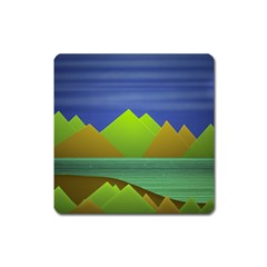 Landscape  Illustration Magnet (Square)