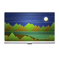 Landscape  Illustration Business Card Holder