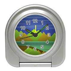 Landscape  Illustration Desk Alarm Clock