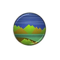 Landscape  Illustration Golf Ball Marker (for Hat Clip)