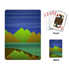 Landscape  Illustration Playing Cards Single Design