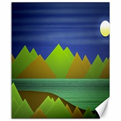 Landscape  Illustration Canvas 8  X 10  (unframed)