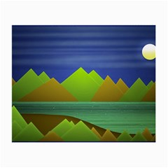 Landscape  Illustration Glasses Cloth (Small, Two Sided)