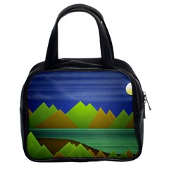 Landscape  Illustration Classic Handbag (two Sides)