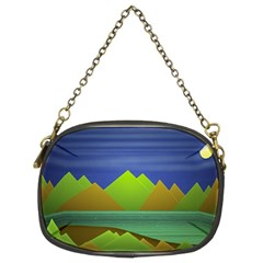 Landscape  Illustration Chain Purse (two Sided)