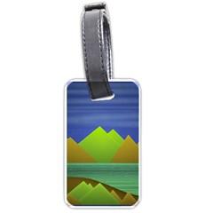 Landscape  Illustration Luggage Tag (One Side)