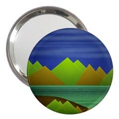 Landscape  Illustration 3  Handbag Mirror