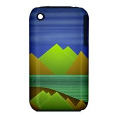 Landscape  Illustration Apple iPhone 3G/3GS Hardshell Case (PC+Silicone)