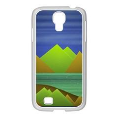 Landscape  Illustration Samsung GALAXY S4 I9500/ I9505 Case (White)