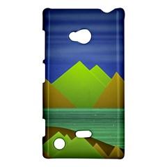 Landscape  Illustration Nokia Lumia 720 Hardshell Case