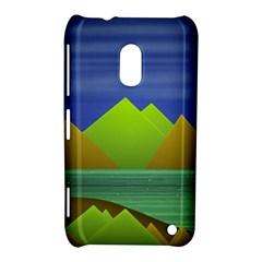 Landscape  Illustration Nokia Lumia 620 Hardshell Case