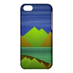 Landscape  Illustration Apple Iphone 5c Hardshell Case