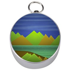 Landscape  Illustration Silver Compass