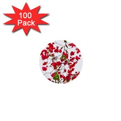 Red Petals 1  Mini Button (100 Pack)