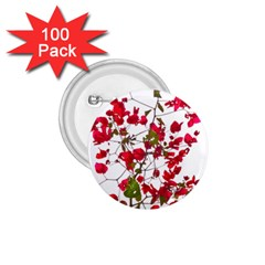 Red Petals 1.75  Button (100 pack)