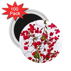 Red Petals 2.25  Button Magnet (100 pack)