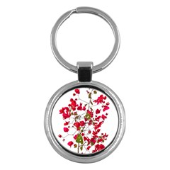 Red Petals Key Chain (round)