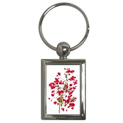 Red Petals Key Chain (rectangle)