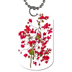 Red Petals Dog Tag (one Sided)