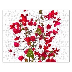 Red Petals Jigsaw Puzzle (rectangle)