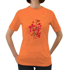 Red Petals Women s T-shirt (Colored)