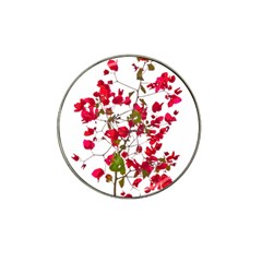 Red Petals Golf Ball Marker 4 Pack (for Hat Clip)