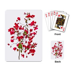 Red Petals Playing Cards Single Design