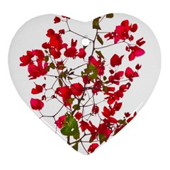 Red Petals Heart Ornament (Two Sides)
