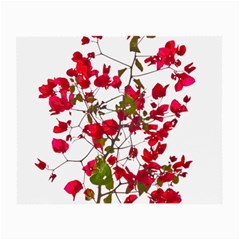 Red Petals Glasses Cloth (Small, Two Sided)