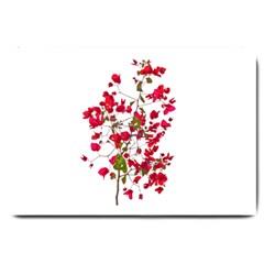 Red Petals Large Door Mat