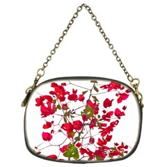 Red Petals Chain Purse (two Sided)