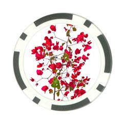 Red Petals Poker Chip (10 Pack)