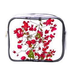 Red Petals Mini Travel Toiletry Bag (one Side)