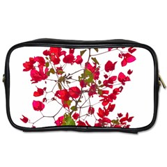 Red Petals Travel Toiletry Bag (one Side)