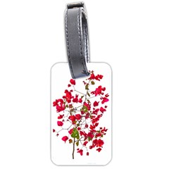 Red Petals Luggage Tag (two Sides)