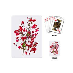 Red Petals Playing Cards (Mini)