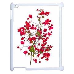 Red Petals Apple Ipad 2 Case (white)