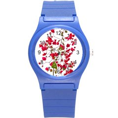 Red Petals Plastic Sport Watch (small)