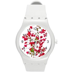 Red Petals Plastic Sport Watch (medium)