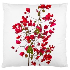 Red Petals Large Cushion Case (Two Sided)