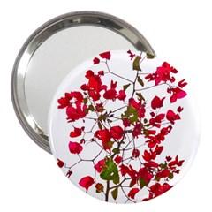 Red Petals 3  Handbag Mirror