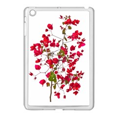 Red Petals Apple iPad Mini Case (White)