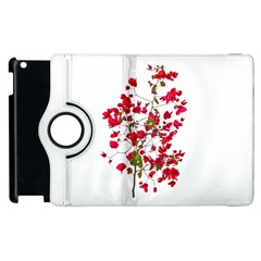 Red Petals Apple Ipad 3/4 Flip 360 Case