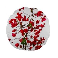 Red Petals 15  Premium Round Cushion