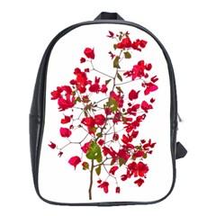 Red Petals School Bag (xl)