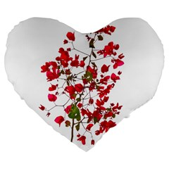 Red Petals 19  Premium Heart Shape Cushion