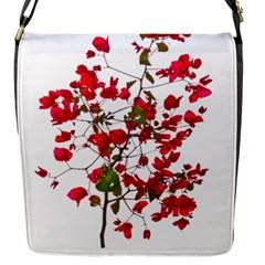 Red Petals Flap Closure Messenger Bag (small)